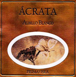 Etiqueta Ácrata Albillo Blanco