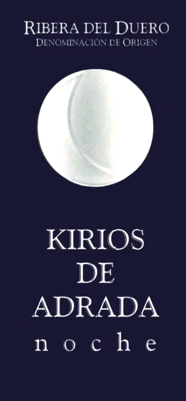 Etiqueta Kirios de Adrada noche