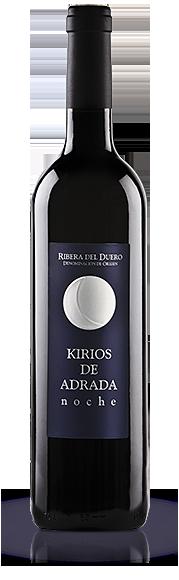 Botella Vino Kirios de Adrada noche