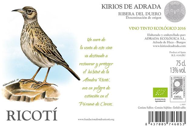 Kirios de Adrada Ricotí Label