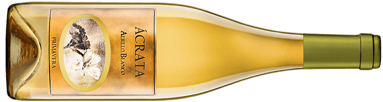 Botella de vino Ácrata Albillo Blanco