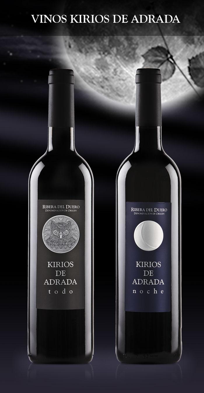 Botellas vino Kirios de Adrada