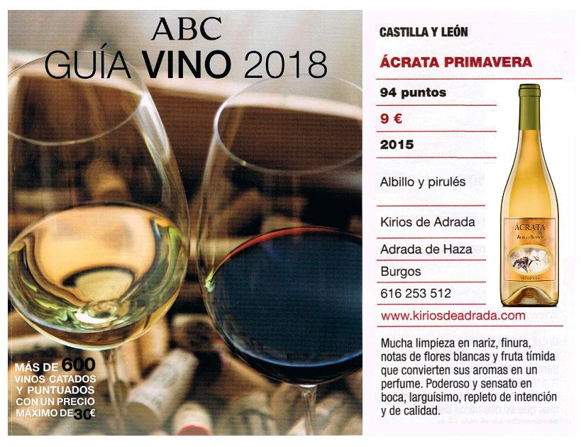Salón del vino de ABC Ácrata Albillo