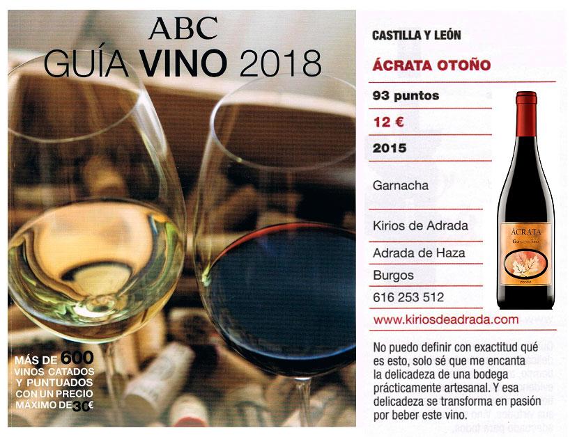 Salón del vino de ABC Ácrata Garnacha