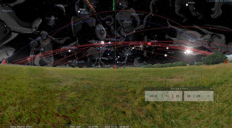 Almanaque estelar octubre 2